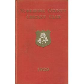 YORKSHIRE COUNTY CRICKET CLUB 1929 [ANNUAL]