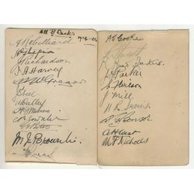 "NEW ZEALAND ""INVINCIBLES"" 1924-25 SIGNED SHEET"