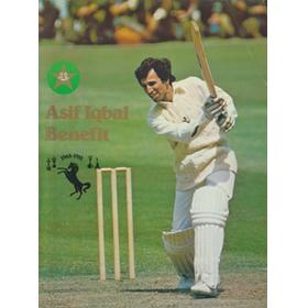 ASIF IQBAL (PAKISTAN & KENT) 1981 SIGNED BENEFIT BROCHURE