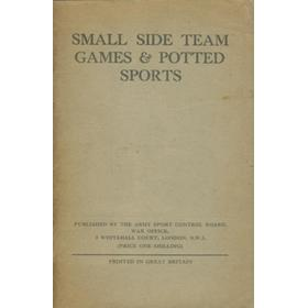 SMALL SIDE TEAM GAMES AND POTTED SPORTS