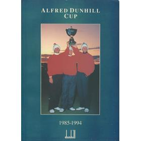ALFRED DUNHILL CUP 1994 (ST. ANDREWS) GOLF PROGRAMME