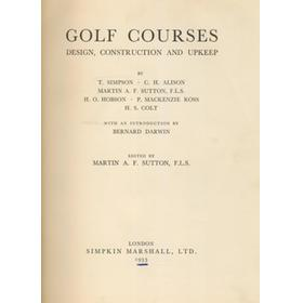 GOLF COURSES: DESIGN, CONSTRUCTION AND UPKEEP