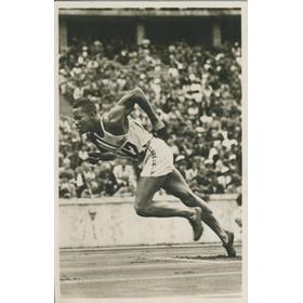 ARCHIE WILLIAMS (USA) - BERLIN OLYMPICS 1936 (400 METRES) POSTCARD