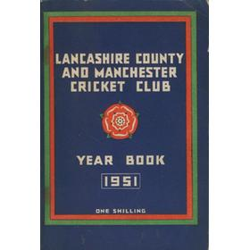 OFFICIAL HANDBOOK OF THE LANCASHIRE COUNTY AND MANCHESTER CRICKET CLUB 1951