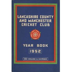 OFFICIAL HANDBOOK OF THE LANCASHIRE COUNTY AND MANCHESTER CRICKET CLUB 1952