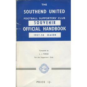 SOUTHEND UNITED FOOTBALL CLUB HANDBOOK 1957-58