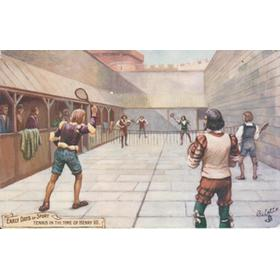 REAL TENNIS POSTCARD - TENNIS IN THE TIME OF HENRY VIII