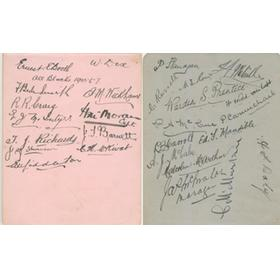 "AUSTRALIAN RUGBY TOUR OF UNITED KINGDOM AND AMERICA 1908-09 AUTOGRAPHS - THE ""FIRST WALLABIES"""