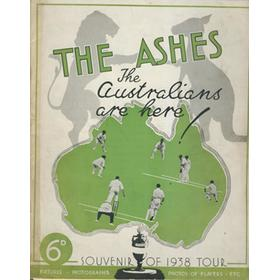 THE ASHES: THE AUSTRALIANS ARE HERE! SOUVENIR OF THE 1938 TOUR