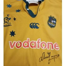 DAVID CAMPESE WALLABY SIGNED JERSEY