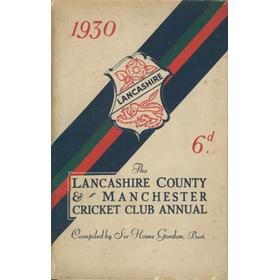 LANCASHIRE COUNTY & MANCHESTER CRICKET CLUB OFFICIAL HANDBOOK 1930
