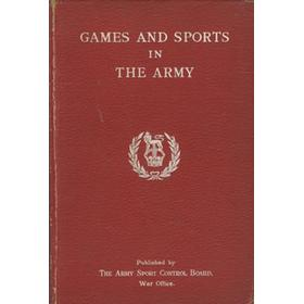 GAMES AND SPORTS IN THE ARMY 1931