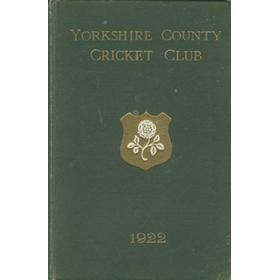 YORKSHIRE COUNTY CRICKET CLUB 1922 [ANNUAL]