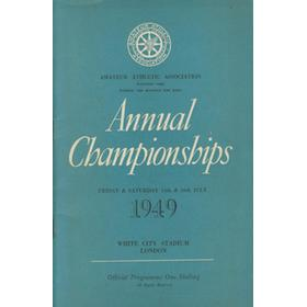 A.A.A. ANNUAL CHAMPIONSHIPS 1949 ATHLETICS PROGRAMME