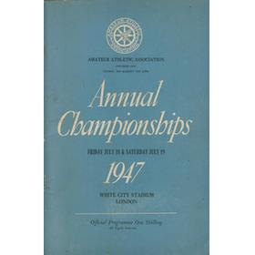 A.A.A. ANNUAL CHAMPIONSHIPS 1947 ATHLETICS PROGRAMME