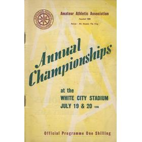 A.A.A. ANNUAL CHAMPIONSHIPS 1946 ATHLETICS PROGRAMME