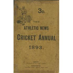 ATHLETIC NEWS CRICKET ANNUAL 1893