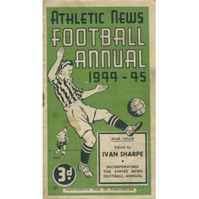 ATHLETIC NEWS FOOTBALL ANNUAL 1944-45