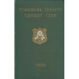 YORKSHIRE COUNTY CRICKET CLUB 1928 [ANNUAL]