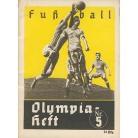BERLIN OLYMPICS 1936 - FOOTBALL TOURNAMENT PROGRAMME
