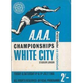 A.A.A. ANNUAL CHAMPIONSHIPS 1966 ATHLETICS PROGRAMME