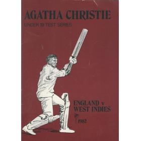 AGATHA CHRISTIE UNDER 19 CRICKET TOUR 1982 - WEST INDIES IN ENGLAND