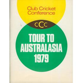 CLUB CRICKET CONFERENCE TOUR TO AUSTRALASIA 1979 BROCHURE