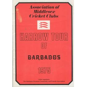 HARROW CRICKET CLUB TOUR OF BARBADOS 1975 BROCHURE