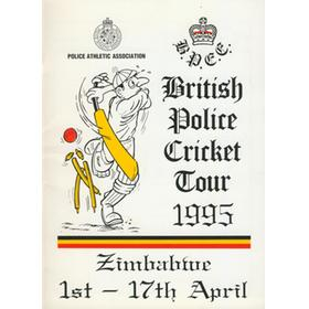 BRITISH POLICE CRICKET TOUR TO ZIMBABWE 1995 BROCHURE