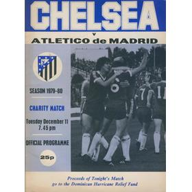 CHELSEA V ATLETICO MADRID 1979 FOOTBALL PROGRAMME