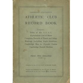 CAMBRIDGE UNIVERSITY ATHLETIC CLUB RECORD BOOK