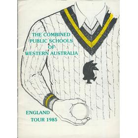 COMBINED SCHOOLS OF WESTERN AUSTRALIA 1985 CRICKET TOUR TO ENGLAND