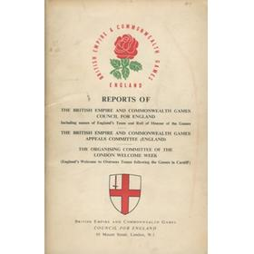 BRITISH EMPIRE AND COMMONWEALTH GAMES CARDIFF 1958 - COUNCIL OF ENGLAND REPORT