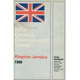 BRITISH EMPIRE & COMMONWEALTH GAMES TEAM HANDBOOK - KINGSTON 1966