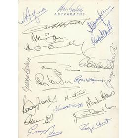 FOOTBALL ASSOCIATION BANQUET MENU 1966 - SIGNED BY THE FULL ENGLAND SQUAD AFTER THE FINAL