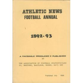 ATHLETIC NEWS FOOTBALL ANNUAL 1892-93 (FACSIMILE EDITION)
