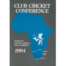 CLUB CRICKET CONFERENCE TOUR OF SOUTH AFRICA AND NAMIBIA 1994 PROGRAMME