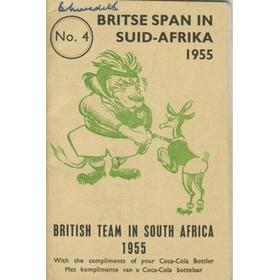 BRITISH LIONS RUGBY TOUR TO SOUTH AFRICA 1955 SIGNED ITINERARY/BROCHURE