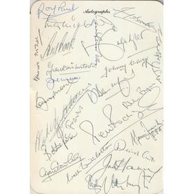 100TH FA CUP BANQUET 1981 - SEATING PLAN AND SIGNED MENU