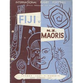 NEW ZEALAND MAORIS V FIJI 1957 (SECOND TEST) RUGBY PROGRAMME