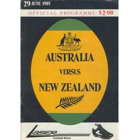 AUSTRALIA V NEW ZEALAND 1985 RUGBY PROGRAMME
