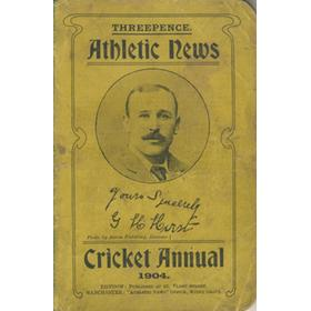 ATHLETIC NEWS CRICKET ANNUAL 1904