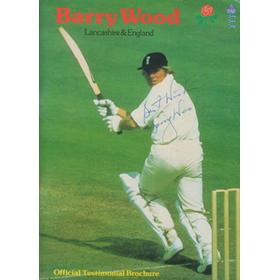 BARRY WOOD (LANCASHIRE) CRICKET BENEFIT BROCHURE