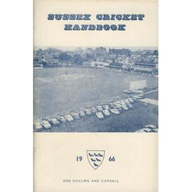 OFFICIAL SUSSEX CRICKET HANDBOOK 1966