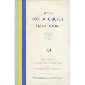 OFFICIAL SUSSEX CRICKET HANDBOOK 1954