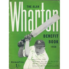 ALAN WHARTON (LANCASHIRE) 1958 CRICKET BENEFIT BROCHURE