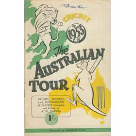 AUSTRALIAN CRICKET TOUR OF ENGLAND 1953 BROCHURE