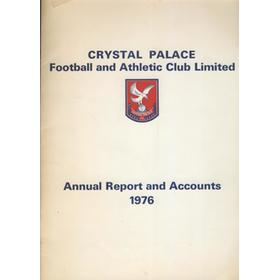 CRYSTAL PALACE FOOTBALL CLUB ANNUAL REPORT AND ACCOUNTS 1976