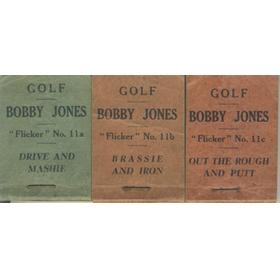 "GOLF ""FLICKERS"": TEACH THE GAME - COMPLETE SET OF THREE"