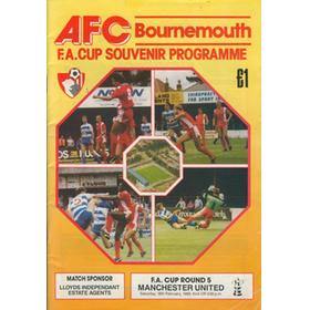 BOURNEMOUTH V MANCHESTER UNITED 1989 FOOTBALL PROGRAMME